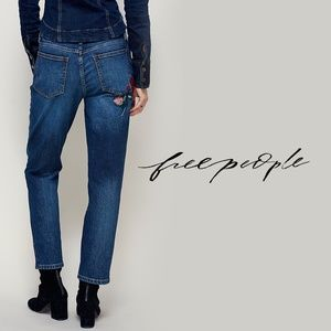 FREE PEOPLE | Four Seasons Embroidered Skinny Jean